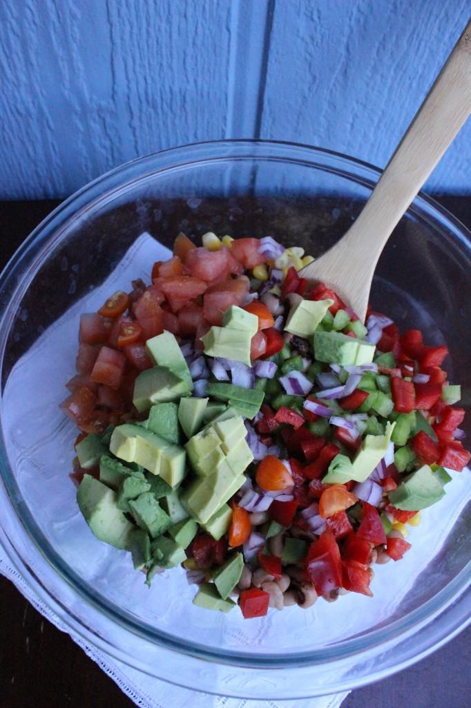 Black eye pea salad 024