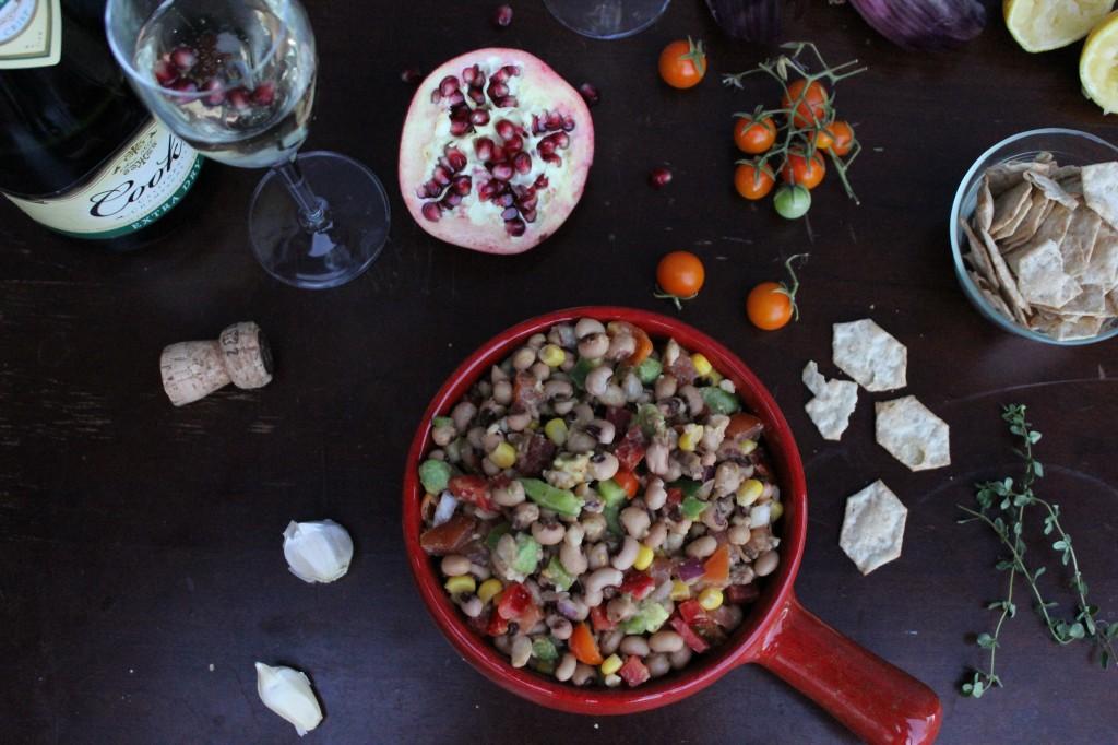 Black eye pea salad 058