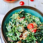 Creamy Kale Salad with Roasted Potatoes