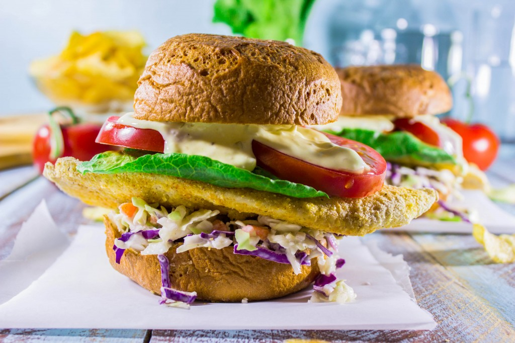 Cornmeal Crusted Tilapia Sandwiches