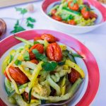 Zucchini & Squash Pasta with Balsamic Roasted Tomatoes