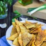 Homemade Cool Ranch Doritos {vegan, gluten free}