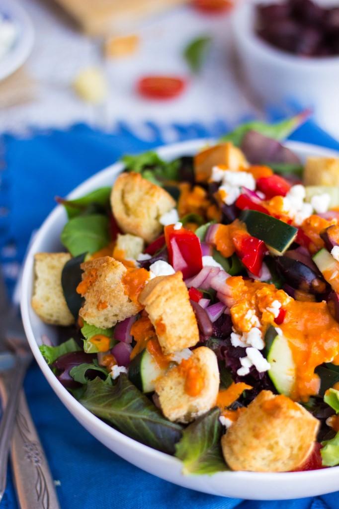 Greek Pizza Salad-8169