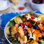 Greek Salad with Cherry Tomato Vinaigrette