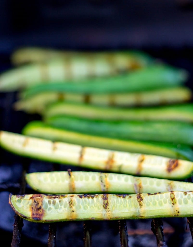 Grilled Cucumber with Pickled Feta Dip-7880