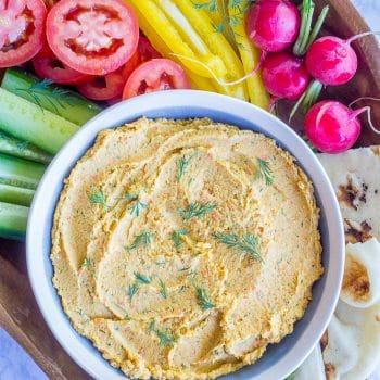 Roasted Carrot & Dill Hummus