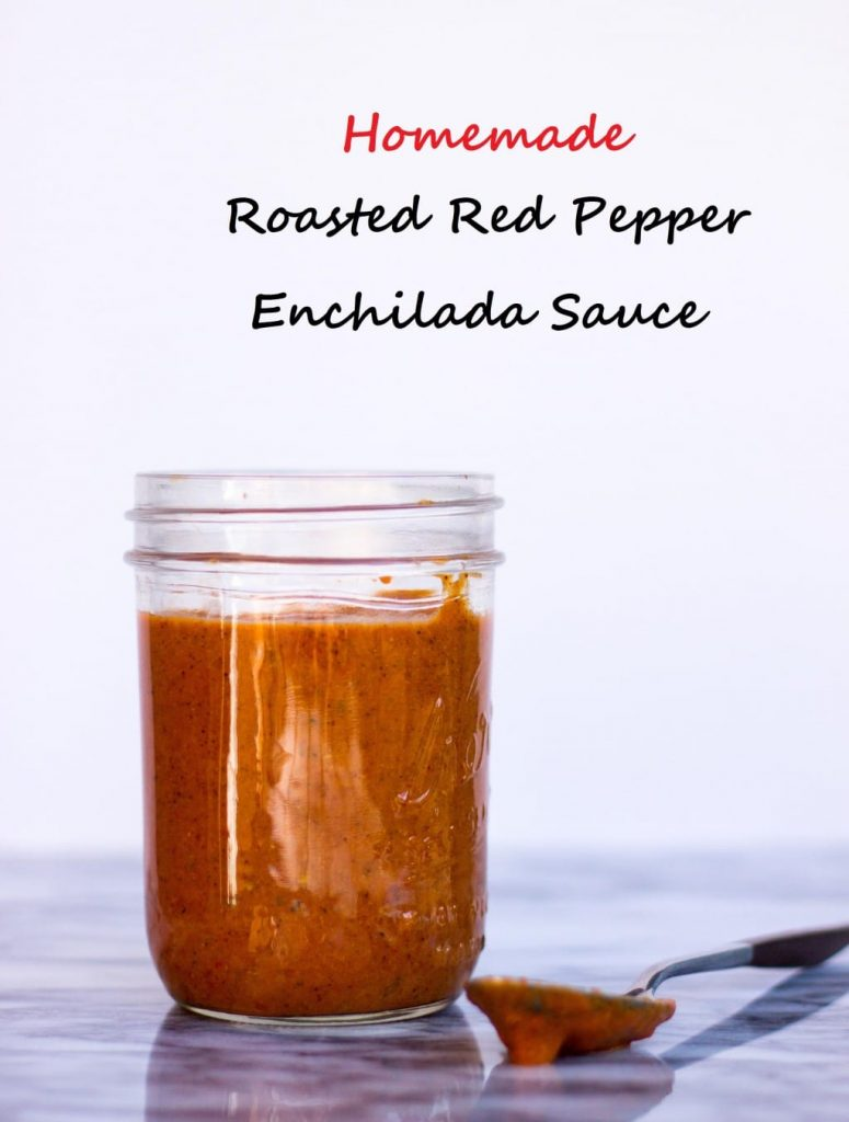 Roasted Red Pepper Enchilada Sauce