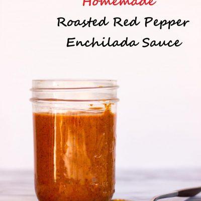 Homemade Roasted Red Pepper Enchilada Sauce {gf+v}