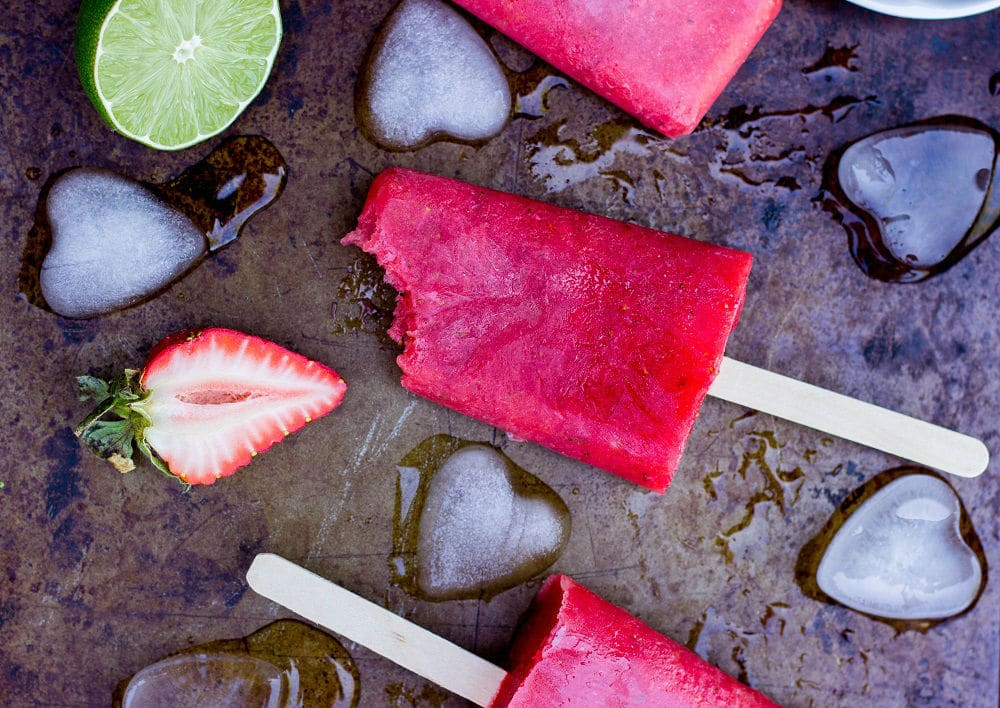Strawberry Rhubarb & Lime Popsicles-7392