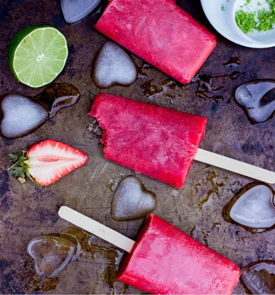 Strawberry Rhubarb & Lime Popsicles-7412n