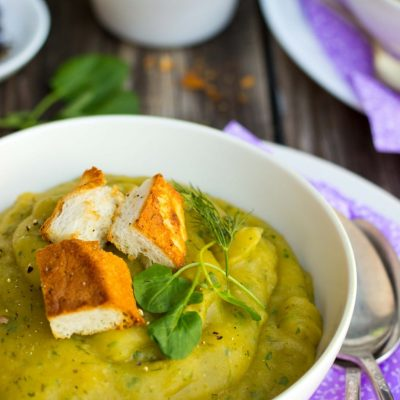 Chilled Watercress & Potato Soup with Dill {gf+v}