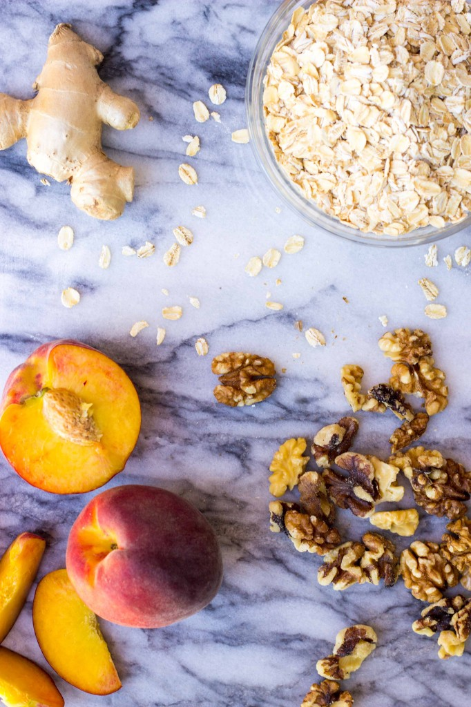 Peach Oatmeal Bake with Whipped Coconut Cream-8948