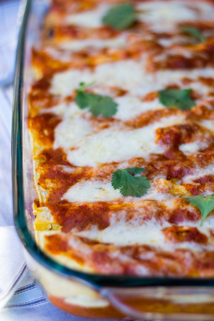 Quinoa Black Bean & Green Chili Enchiladas-8457