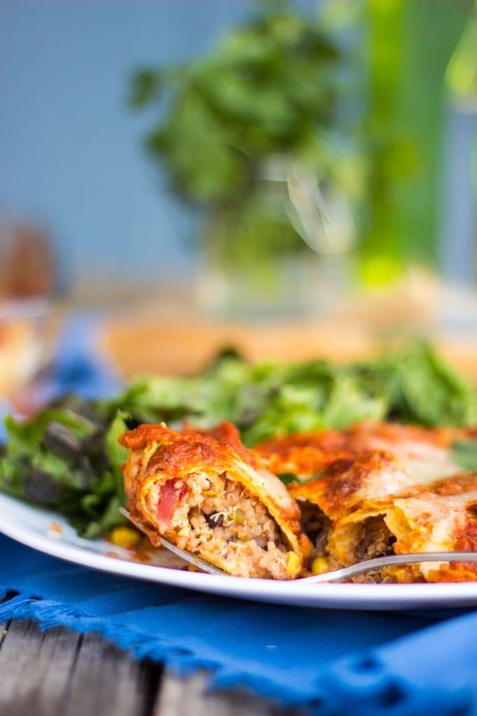 Quinoa Black Bean & Green Chili Enchiladas-8514
