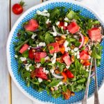 Summer Arugula Salad with Watermelon Feta & Buckwheat