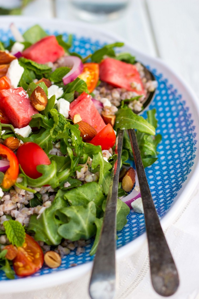 Summer Arugula Salad with Watermelon, Feta & Buckwheat-9802