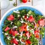 Summer Arugula Salad with Watermelon, Feta & Buckwheat