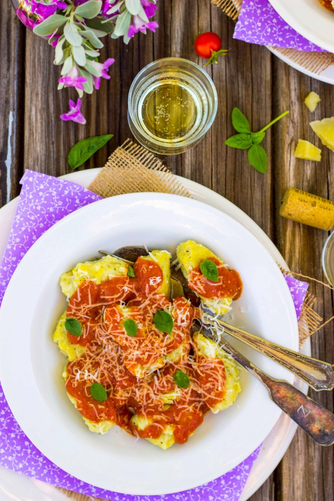 Basil & Sweet Corn Gnudi with Blistered Cherry Tomato Sauce-0870