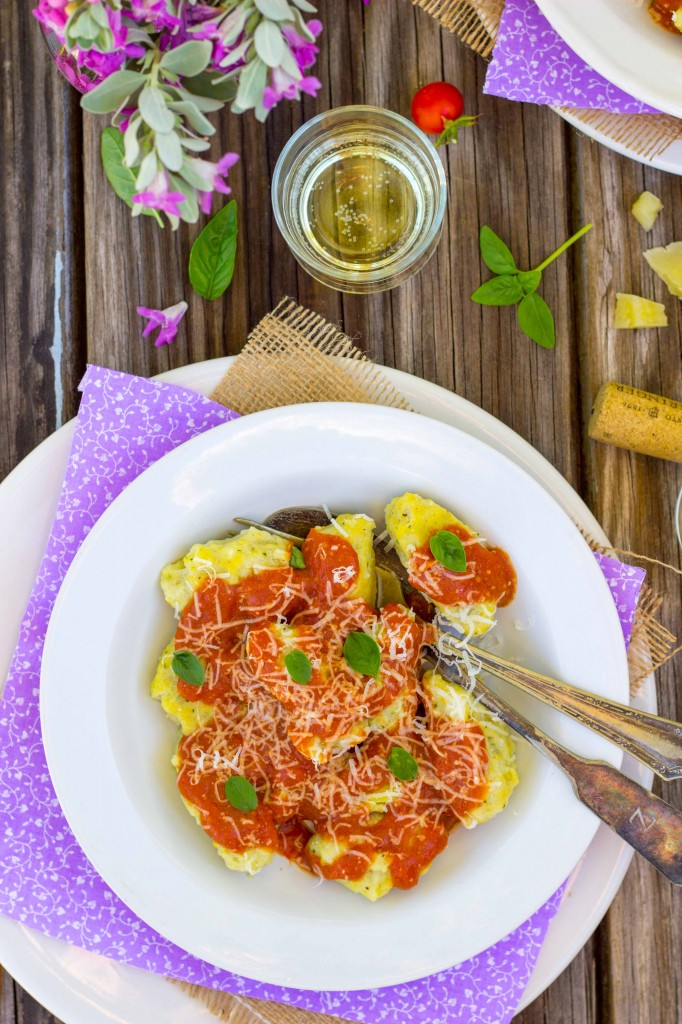 Basil & Sweet Corn Gnudi with Blistered Cherry Tomato Sauce-0918