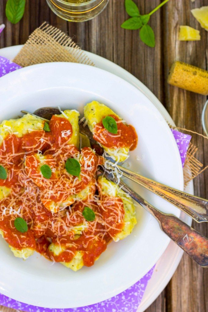 Basil & Sweet Corn Gnudi with Blistered Cherry Tomato Sauce-0923