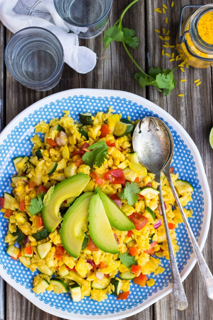 Calabacitas Orzo Salad with Cilantro Lime Dressing {gf+v}-0662