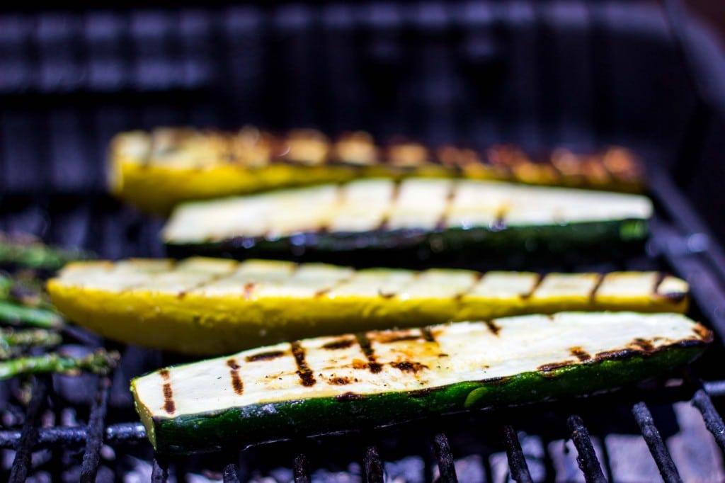 Grilled Vegetable Summer Pasta Salad with a Basil & Roasted Garlic Vinaigrette -9226