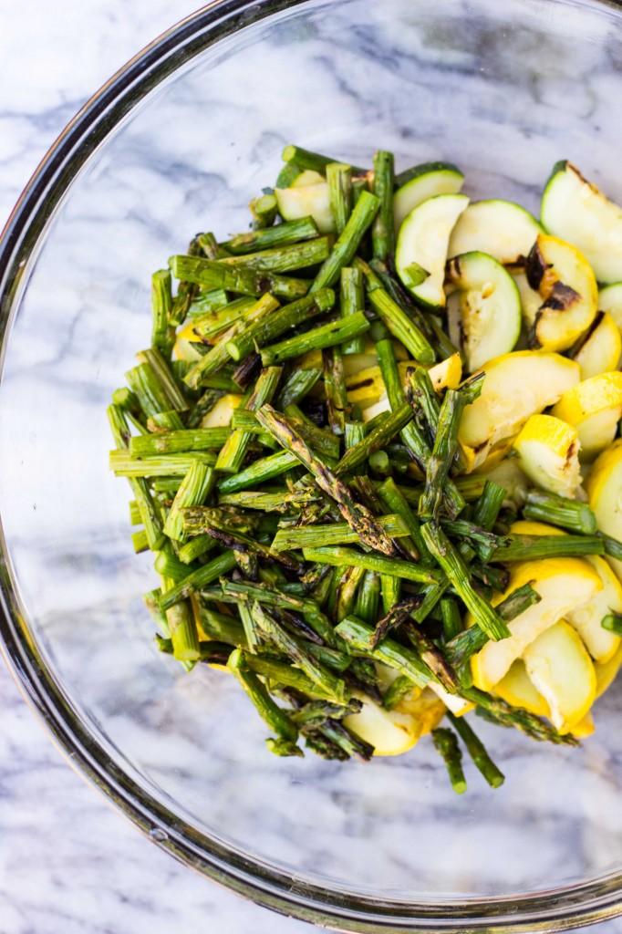 Grilled Vegetable Summer Pasta Salad with a Basil & Roasted Garlic Vinaigrette -9263
