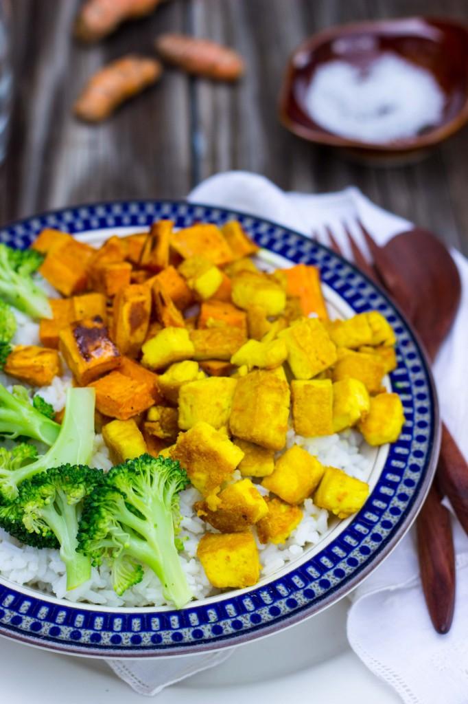 Anti-Inflamatory Rice Bowls with Turmeric Marinated Tofu-1414
