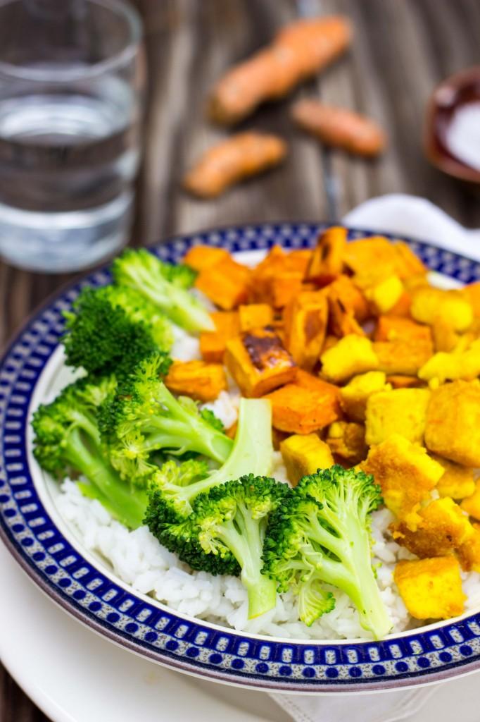 Anti-Inflamatory Rice Bowls with Turmeric Marinated Tofu-1416