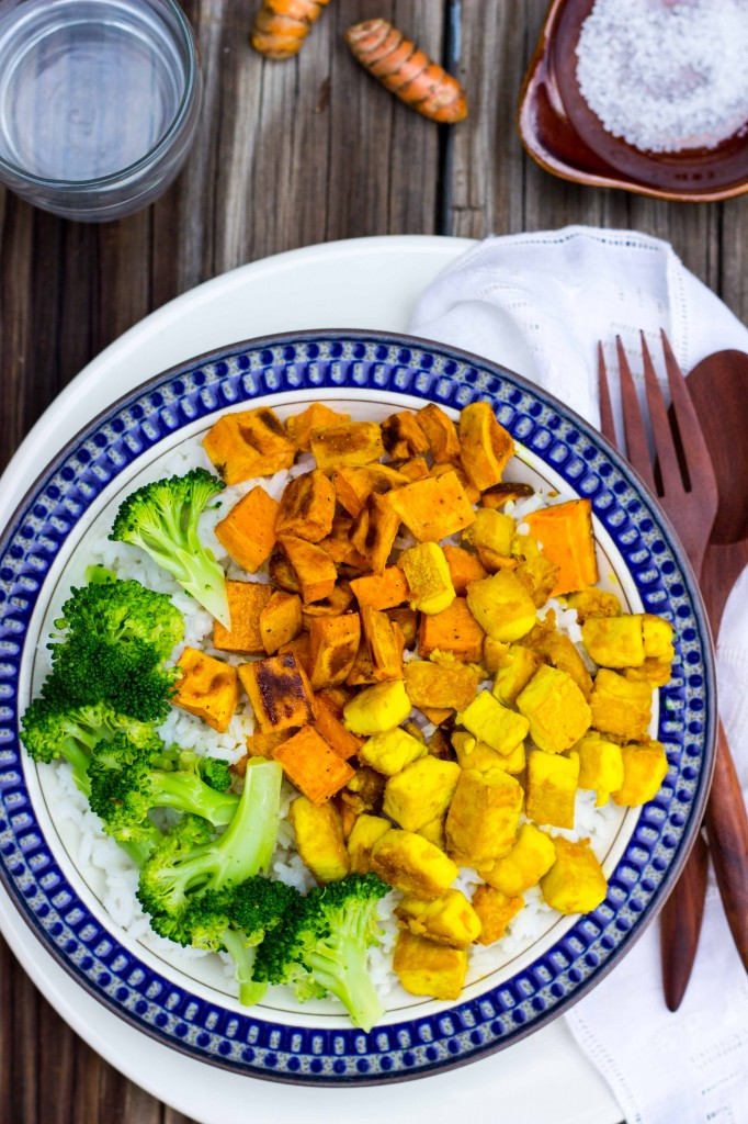 Anti-Inflamatory Rice Bowls with Turmeric Marinated Tofu-1445