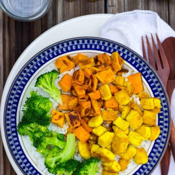 Anti-Inflammatory Rice Bowls with Turmeric Marinated Tofu