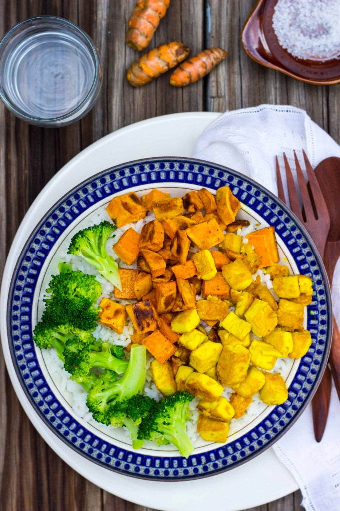 Anti-Inflamatory Rice Bowls with Turmeric Marinated Tofu