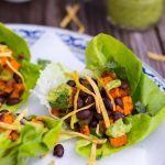 Sweet Potato & Black Bean Lettuce Wraps