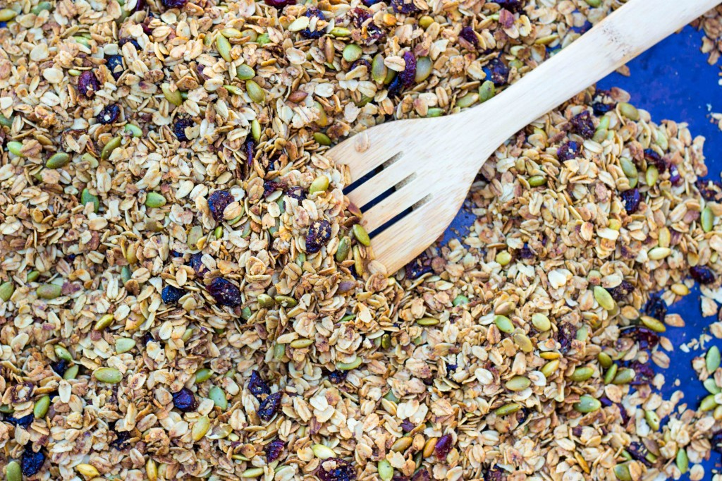 Pumpkin Spiced Granola with Pepitas & Dried Cranberries-4762