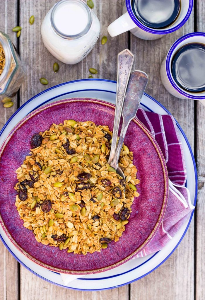 Pumpkin Spiced Granola with Pepitas & Dried Cranberries-4774