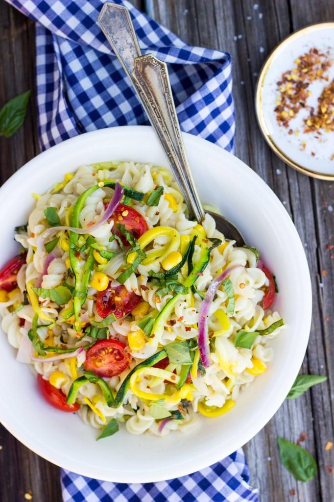 Summer Vegetable Pasta Salad-4175