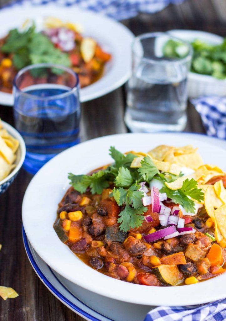 Three Bean Loaded Veggie Chili-4484