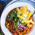 Three Bean Loaded Veggie Chili