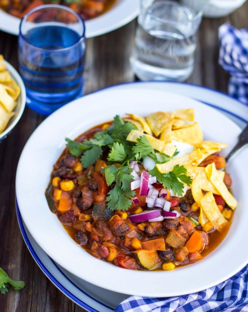 Three Bean Loaded Veggie Chili-4511