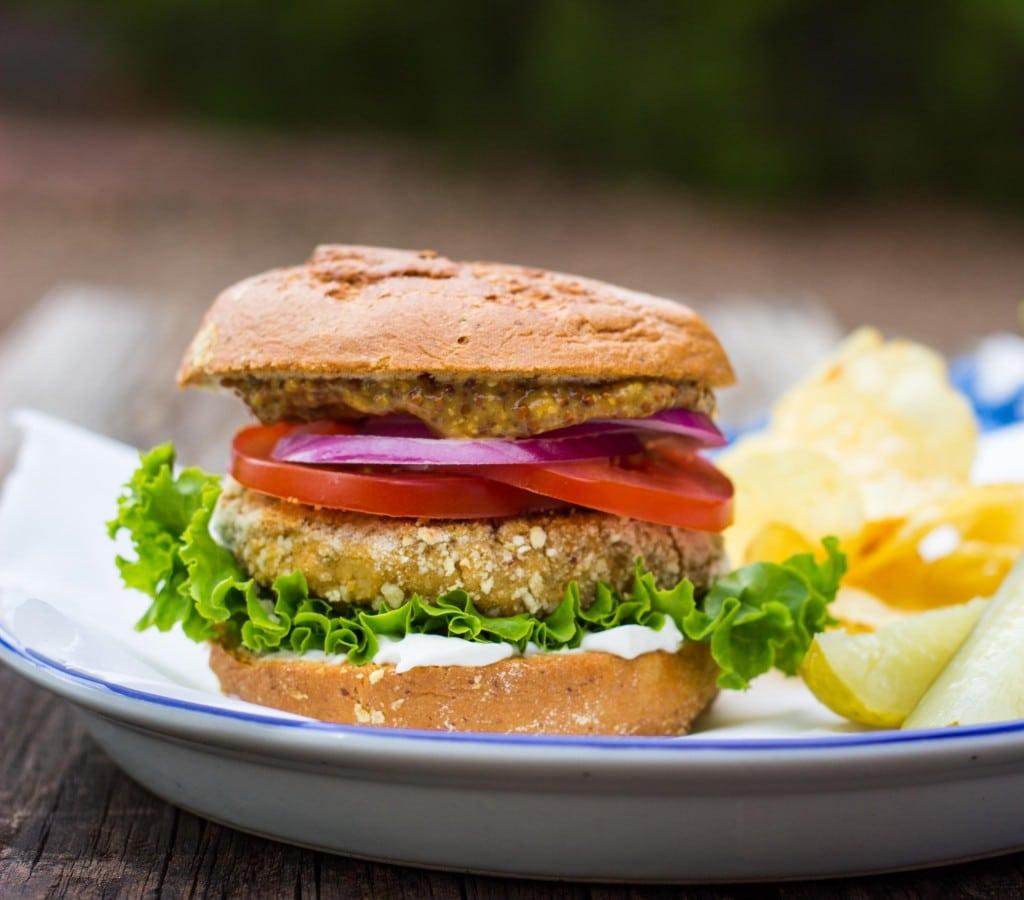 Vegan -Chicken- Patty Sandwiches-4662