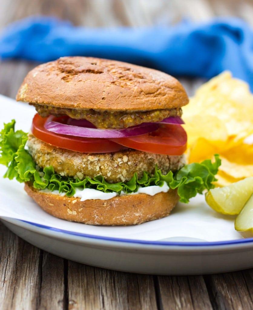 Vegan -Chicken- Patty Sandwiches-4673