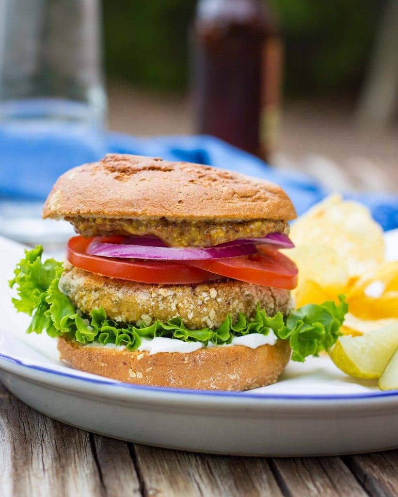 Vegan -Chicken- Patty Sandwiches-4689