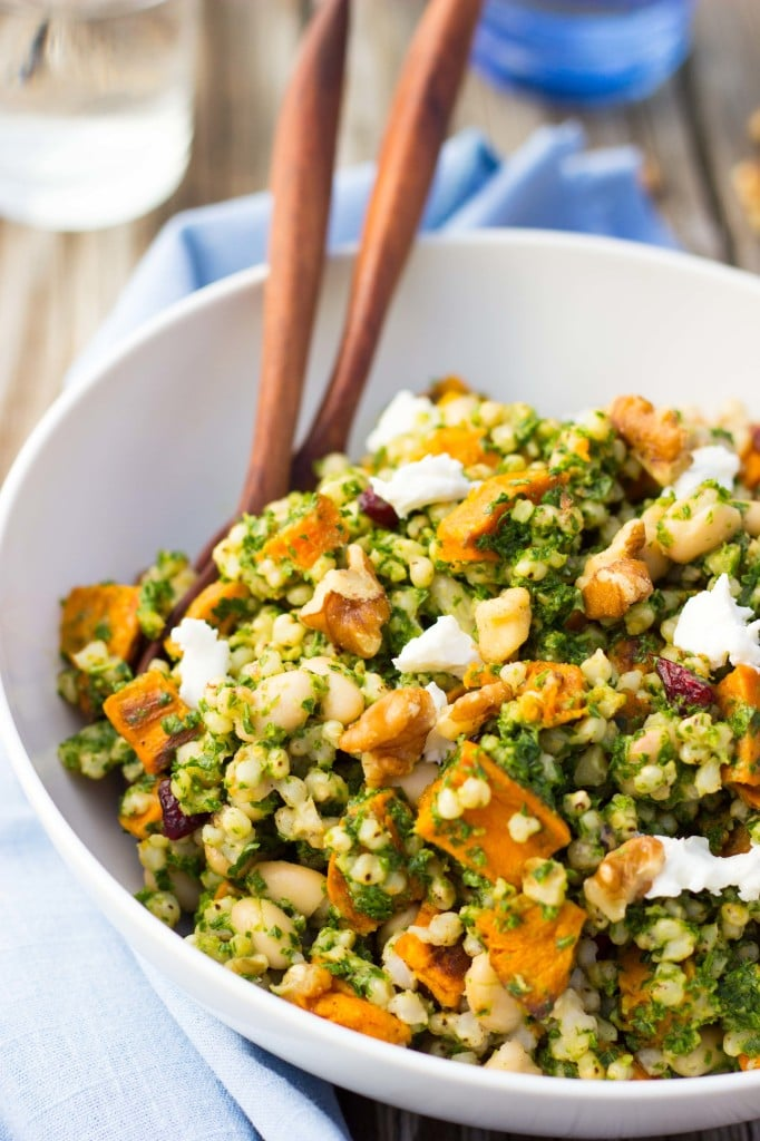 Sorghum, Sweet Potato & White Bean Salad with Kale Pesto-5988