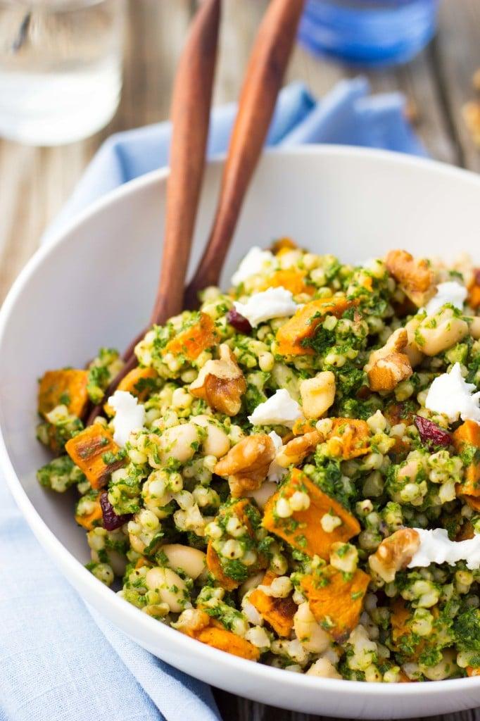Sorghum, Sweet Potato & White Bean Salad with Kale Pesto-5988