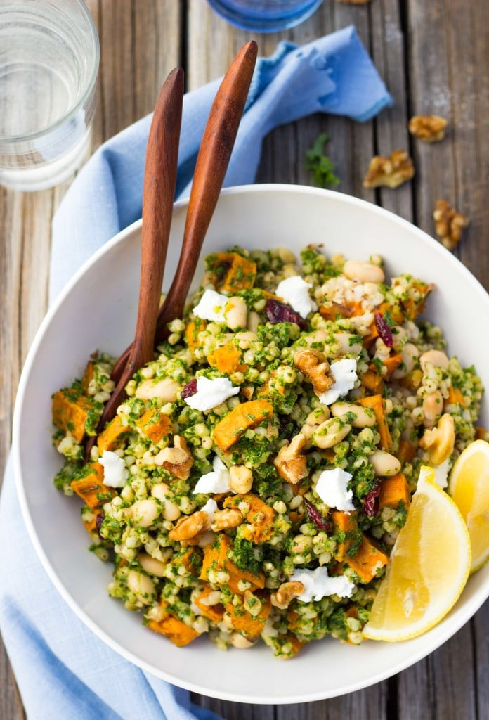 Sorghum, Sweet Potato & White Bean Salad with Kale Pesto-5990