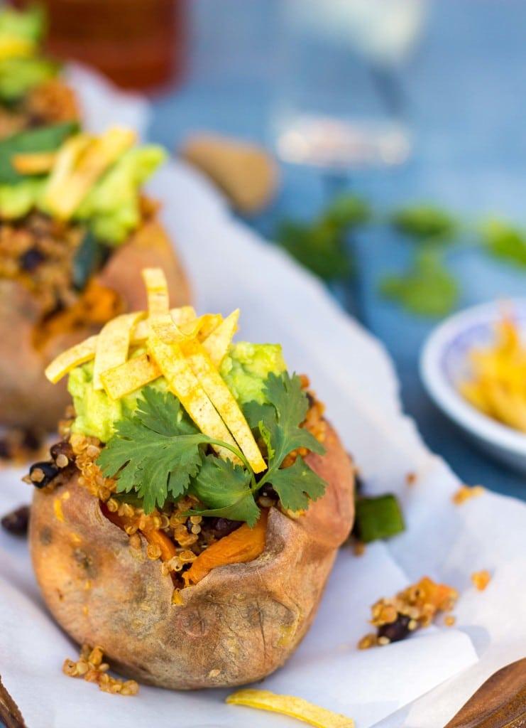 Tex Mex Loaded Sweet Potatoes-5897