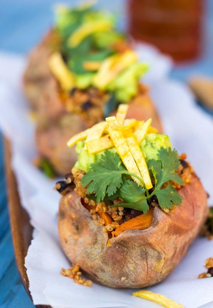Tex Mex Loaded Sweet Potatoes-5901