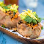 Tex Mex Loaded Sweet Potatoes