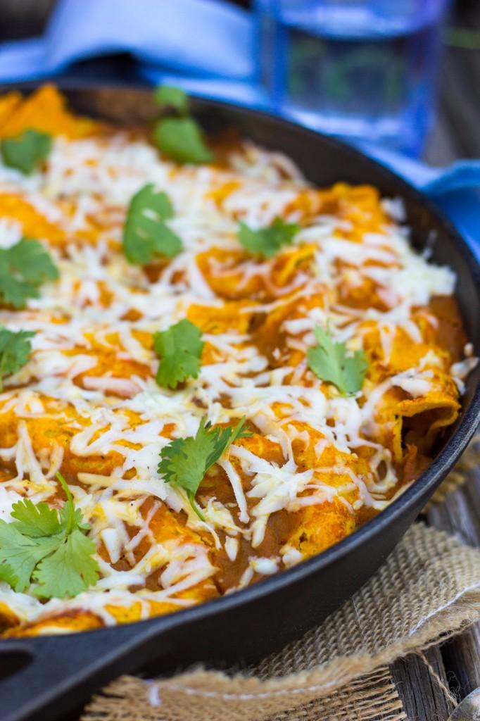 Veggie Enchiladas with Pumpkin Enchilada Sauce {gluten free + vegan}-5210