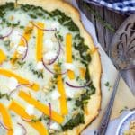 Butternut Squash Pizza with Kale Pesto & Goat Cheese